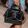Flat Coated Retriever Shoulder Handbag V2