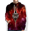 Scottish Fold Cat Galaxy Hoodie V1