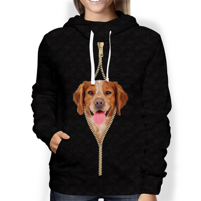 I'm With You - Brittany Spaniel Hoodie V1