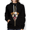 I'm With You - English Bulldog Hoodie V1