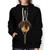 I'm With You - Wire Haired Dachshund Hoodie V2