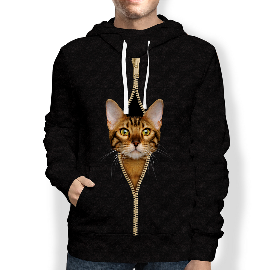 I'm With You - Bengalen Kat Hoodie V1