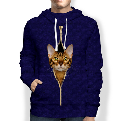 I'm With You - Bengal Cat Hoodie V1