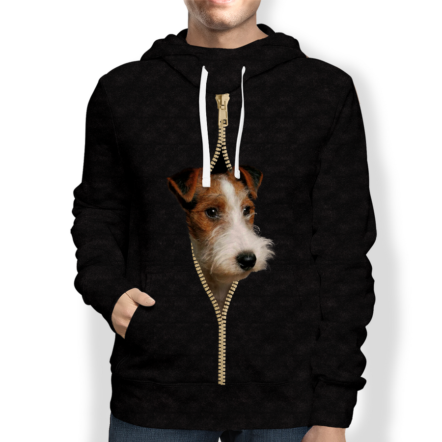 I'm With You - Wire Fox Terrier Hoodie V1