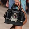 Keeshond Shoulder Handbag V1