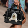 Old English Sheepdog Shoulder Handbag V3