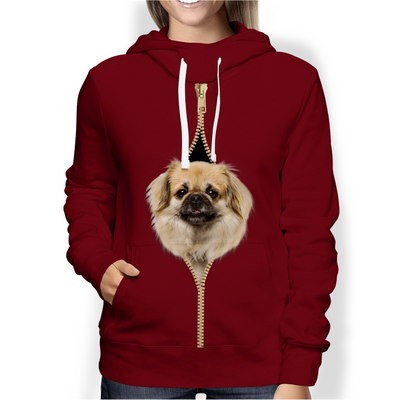 I'm With You - Tibetan Spaniel Hoodie V1