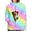 Wire Fox Terrier Rainbow Hoodie V1