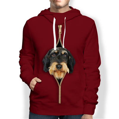 I'm With You - Wire Haired Dachshund Hoodie V1