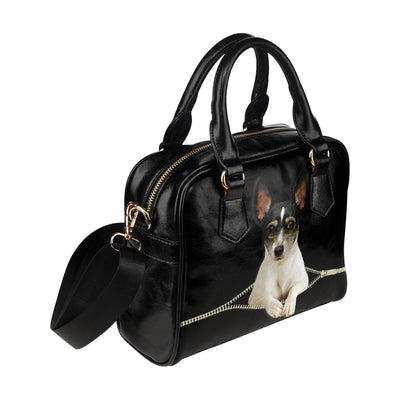 Rat Toy Terrier Shoulder Handbag V1