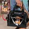 Go Out Together - Personalized Shoulder Handbag With Your Pet's Photo V2-B