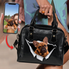Go Out Together - Personalized Shoulder Handbag With Your Pet's Photo V2-F