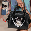 Go Out Together - Personalized Shoulder Handbag With Your Pet's Photo V2-H