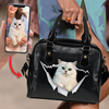 Go Out Together - Personalized Shoulder Handbag With Your Pet's Photo V2-P