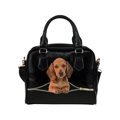 Dachshund Shoulder Handbag V3