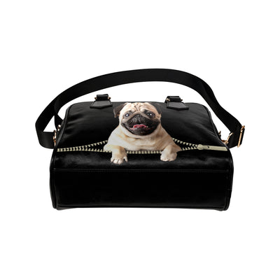 Pug Shoulder Handbag V2