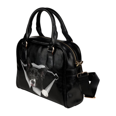 Border Collie Shoulder Handbag V1