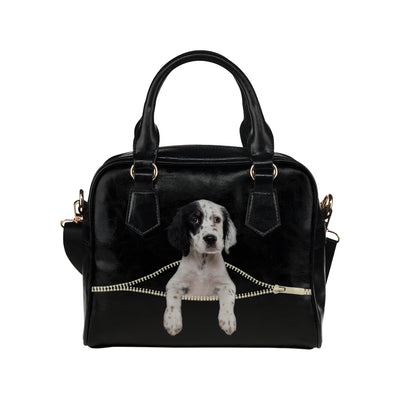 English Setter Shoulder Handbag V1