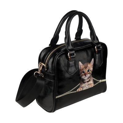 Bengal Cat Shoulder Handbag V2