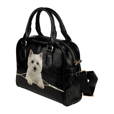 West Highland White Terrier Shoulder Håndtaske V2