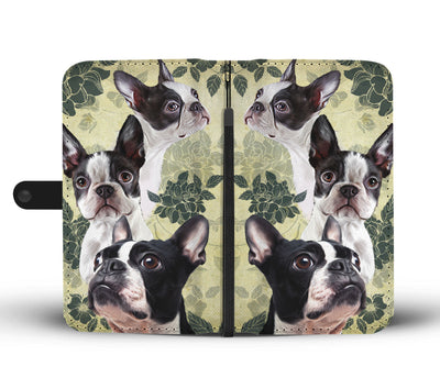 Boston Terrier Wallet Case