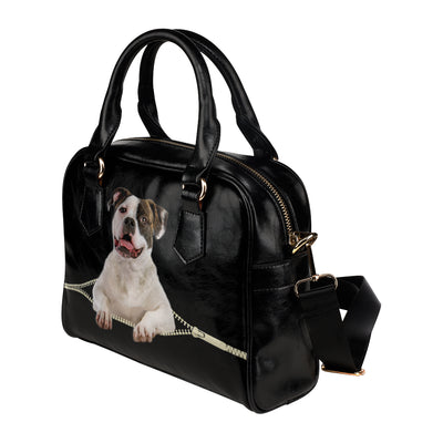 American Bulldog Shoulder Handbag V1