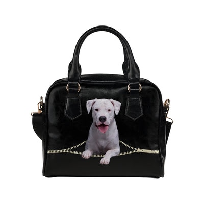 Dogo Argentino Shoulder Handbag V1