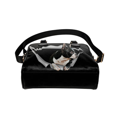 Boston Terrier Shoulder Handbag V1