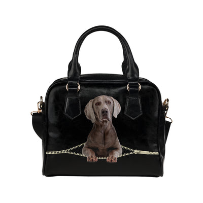 Weimaraner Shoulder Handbag V2