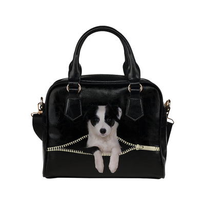 Border Collie Shoulder Handbag V3
