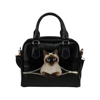 Siamese Cat Shoulder Handbag V1