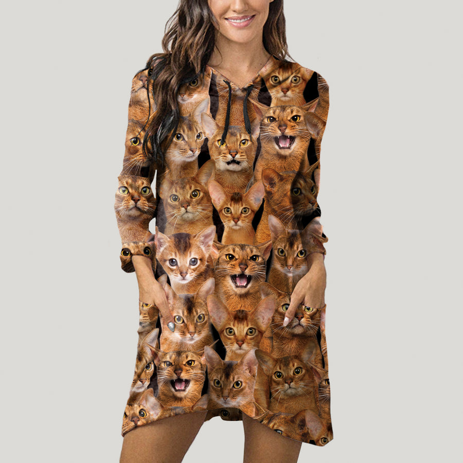 A Bunch Of Abyssinian Cats - Hoodie With Ears V1