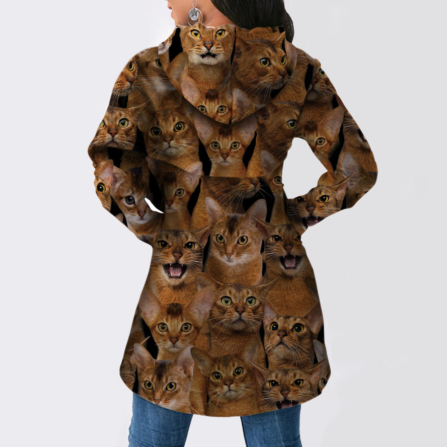 A Bunch Of Abyssinian Cats - Fashion Long Hoodie V1