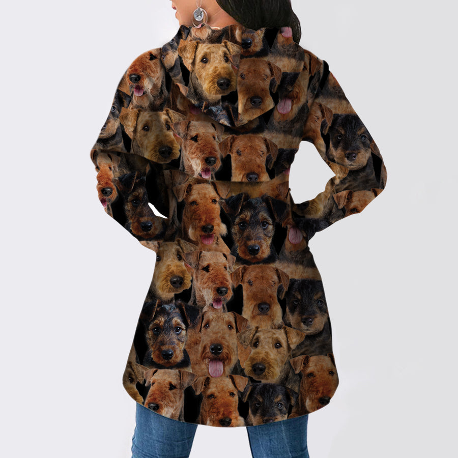 A Bunch of Airedale Terriers - Fashion Long Hoodie V1