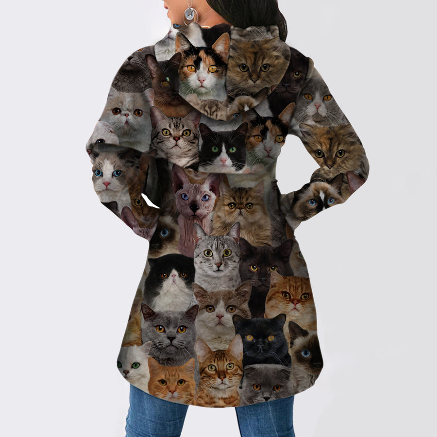 A Bunch of Cats - Fashion Long Hoodie V1