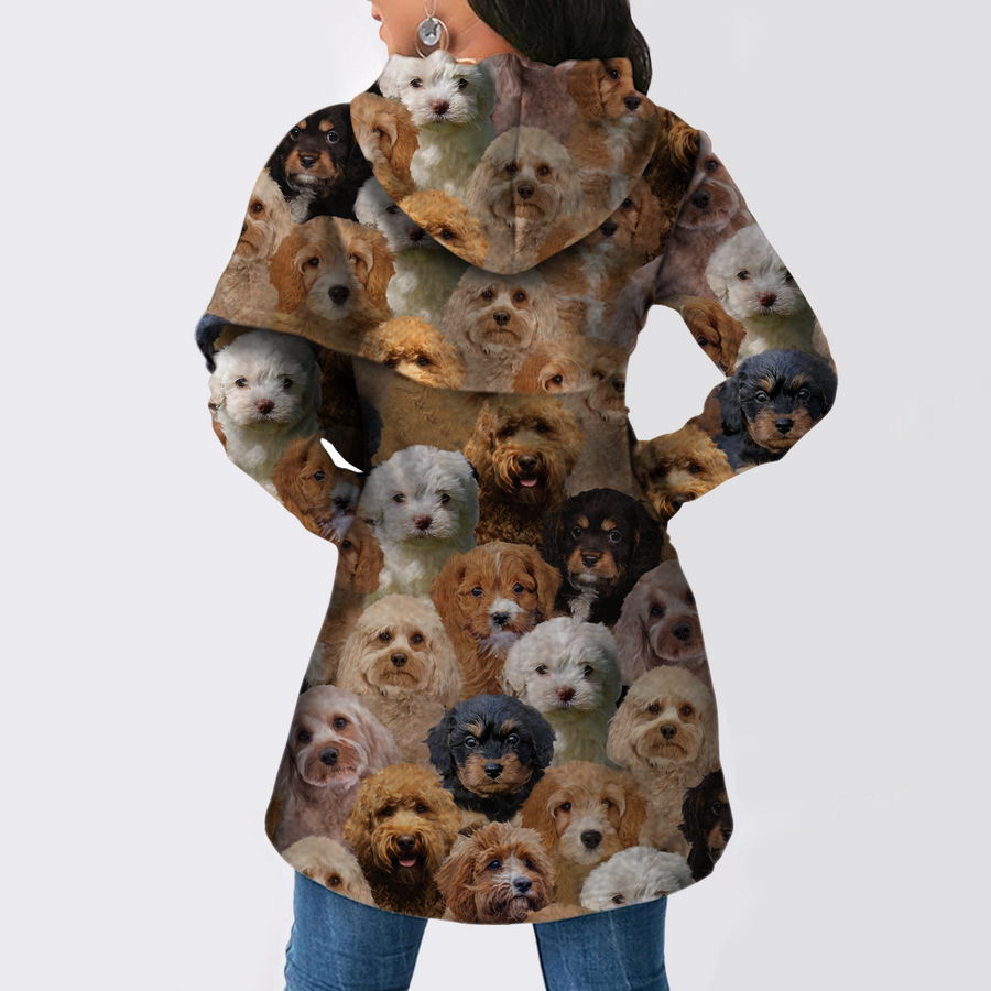 A Bunch of Cavapoos - Fashion Long Hoodie V1