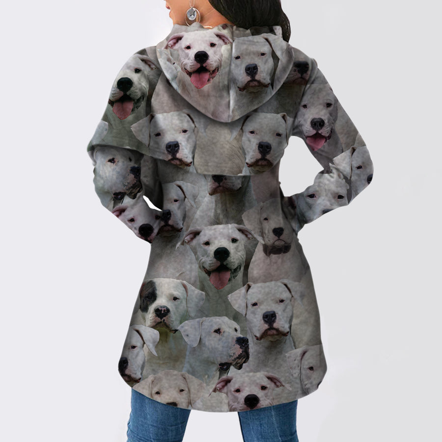 Een stel Dogo Argentinoes - Fashion Long Hoodie V1