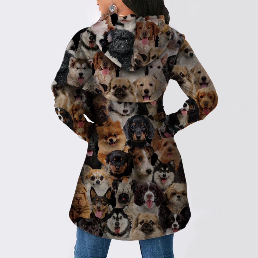 A Bunch of Dogs - Fashion Long Hoodie V1