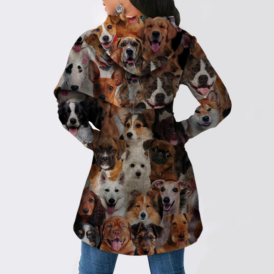 A Bunch of Dogs - Fashion Long Hoodie V2