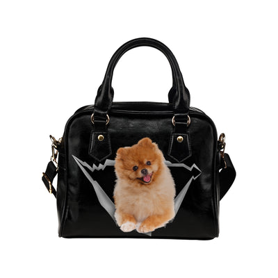 Pomeranian Shoulder Handbag V1