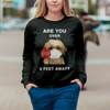 Are You Over 6 Feet Away - Shih Tzu Sweatshirt V1
