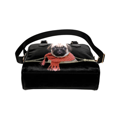 Pug Shoulder Handbag V3