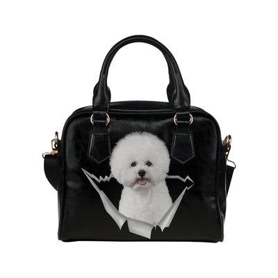 Bichon Frise Shoulder Handbag V1