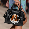 Basset Hound Shoulder Handbag V1
