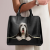 Bearded Collie Luxury Handbag V1