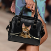 Bengal Cat Shoulder Handbag V1