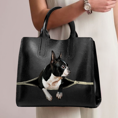 Boston Terrier Luxury Handbag V1
