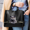 British Shorthair Cat Luxury Handbag V1