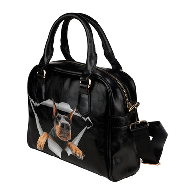 Doberman Pinscher Shoulder Handbag V1