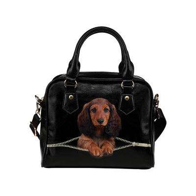 Dachshund Shoulder Handbag V4